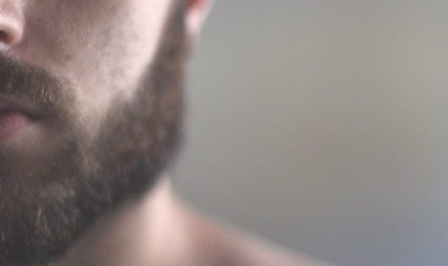mens skincare and acne man with beard