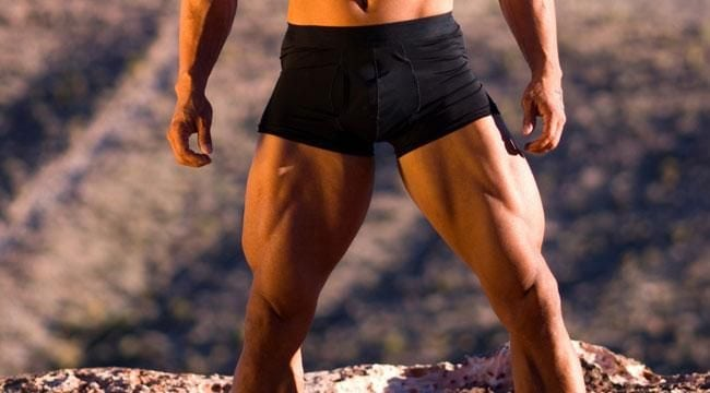 body builder legs