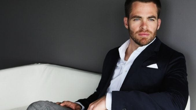Chris Pine face scruff