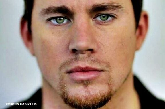 green eyes of channing tatum