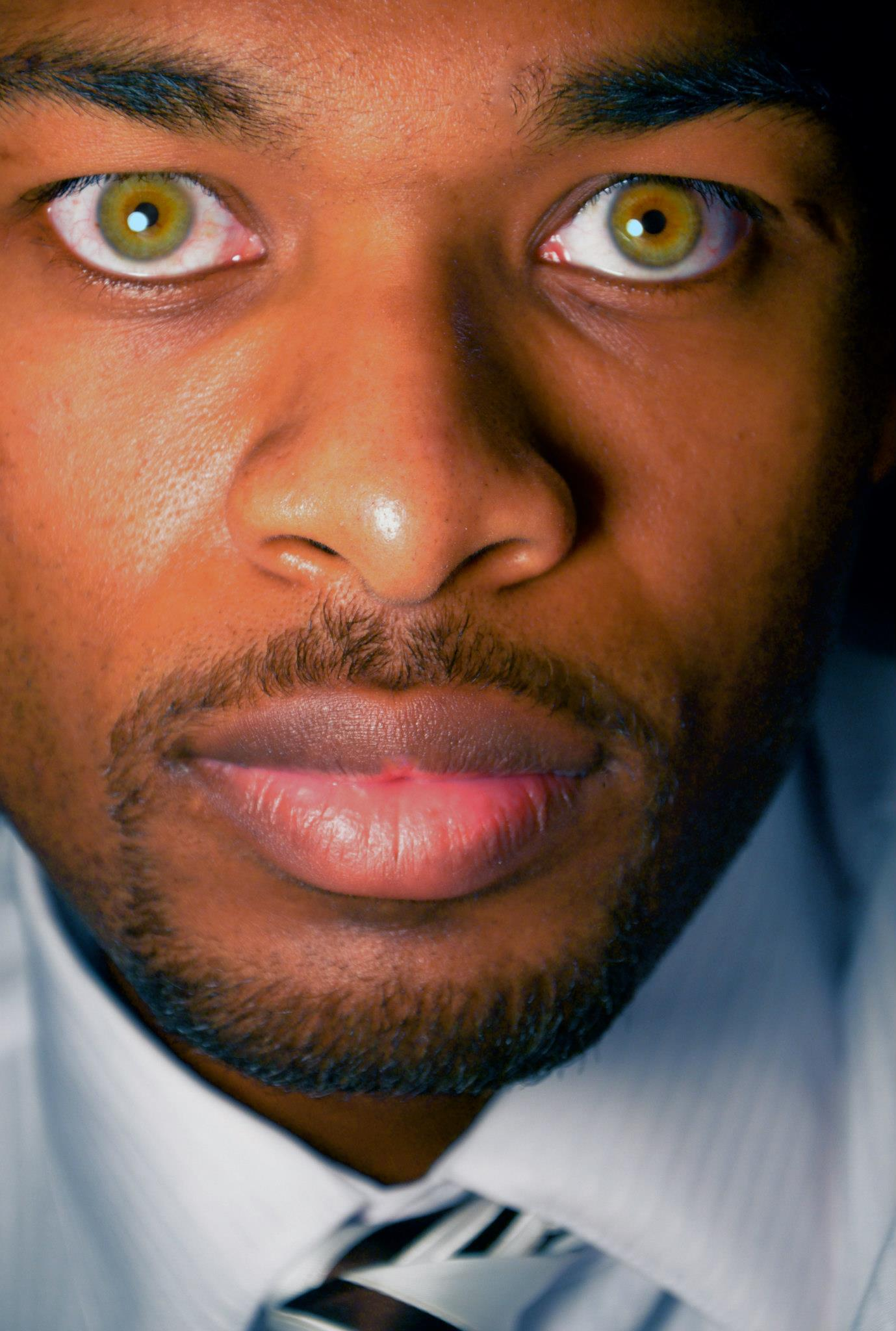 Green Eyes Black Male Guy Counseling