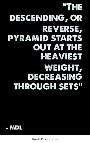 Pyramid system bodybuilding