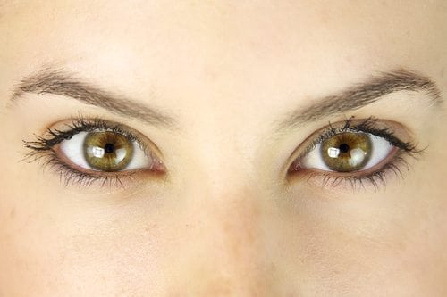 Woman with hazel eyes