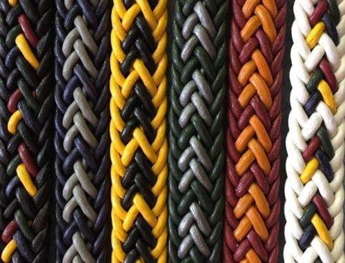 cores pulseira de couro