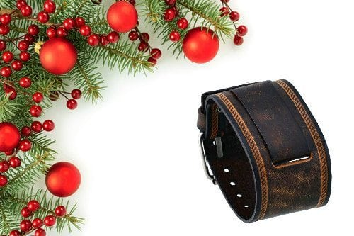 mens leather wrist band