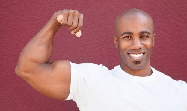 attractive black man bicep