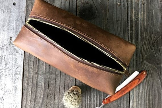 mens grooming kit and dopp bag