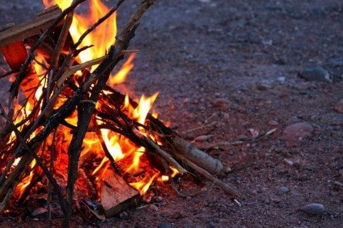 survival fire for wilderness