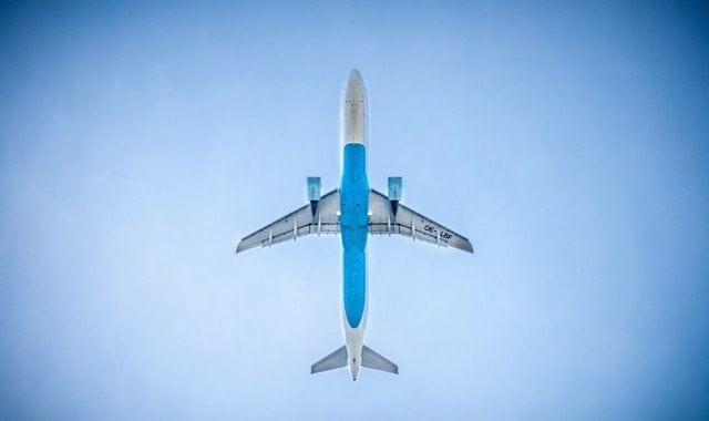 plane blue sky