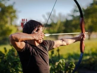 archery bow and arrow man