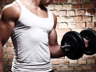 muscular weight lifting