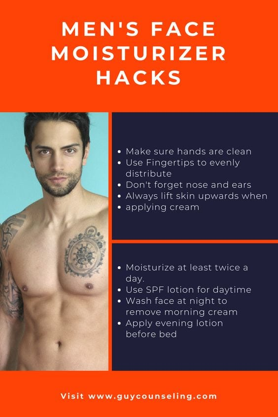 best mens moisturizer with how to apply tips