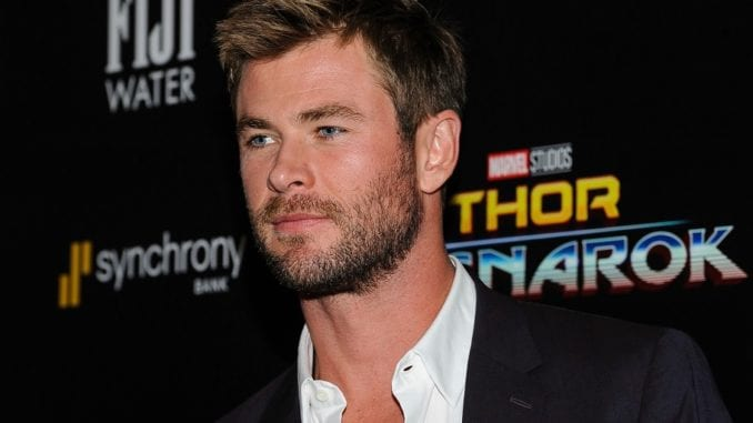 Chris Hemsworth at premier of Thor Ragnarok