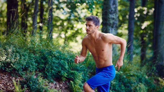 man running - slower rate of aging