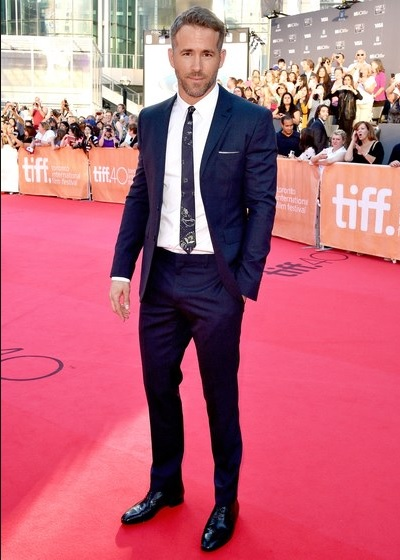 Ryan Reynolds in a suit