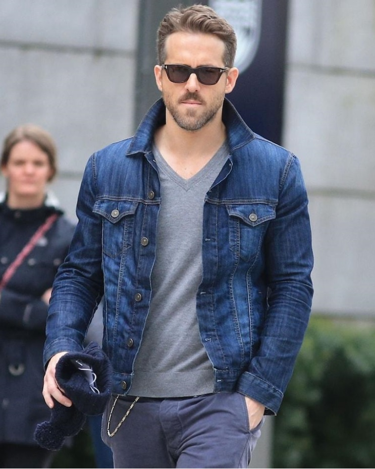 ryan reynolds jean jacket