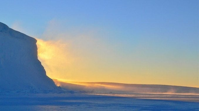ice frozen landscape