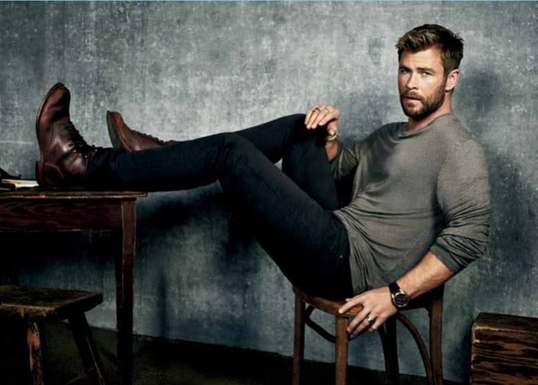 chris hemsworth boots jeans