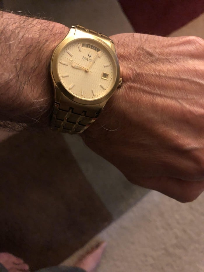 bulova gold wrist watch
