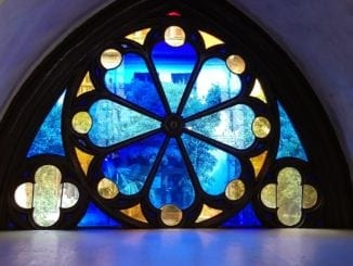 wake stained glass
