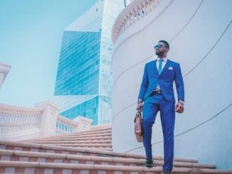 attractive black man in suit