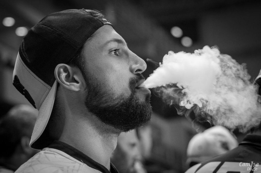 man smoking skin