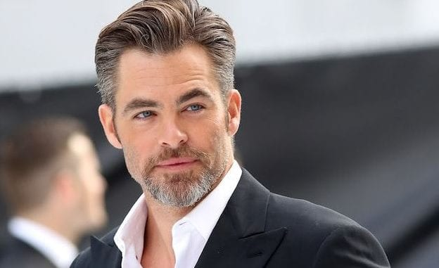 grey hair chris pine