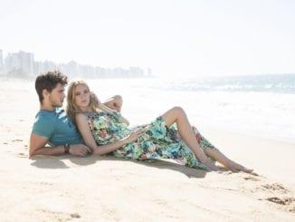 couple beach love with ex