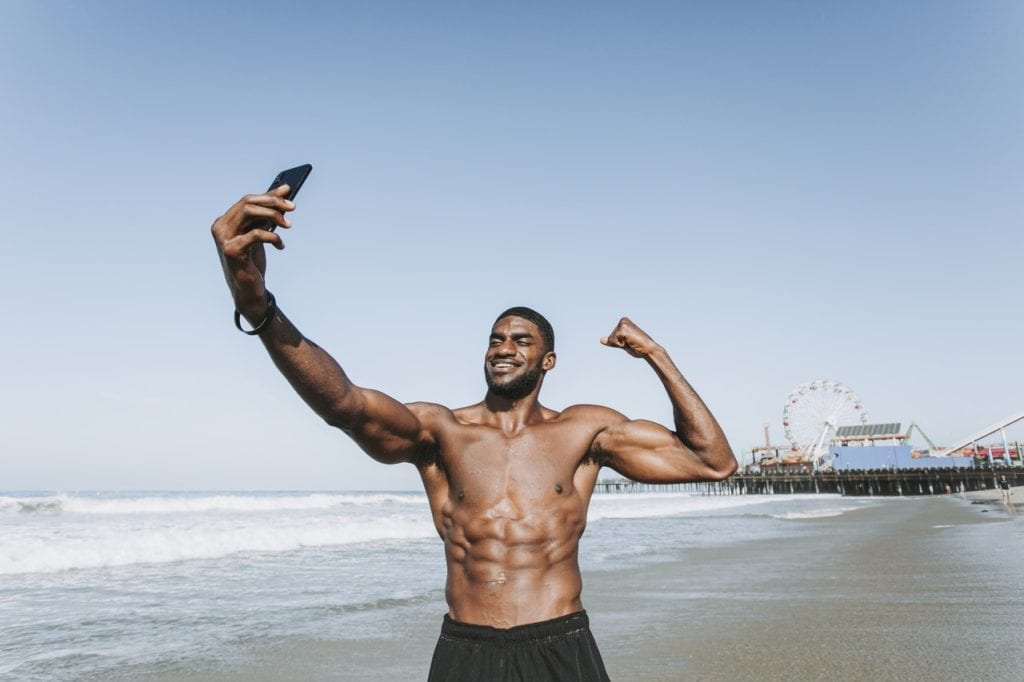 sexy black man selfie facebook