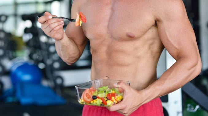 superfoods athletic man eating