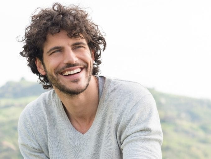 man smiling recovery addiction