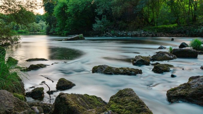 meditation river stones